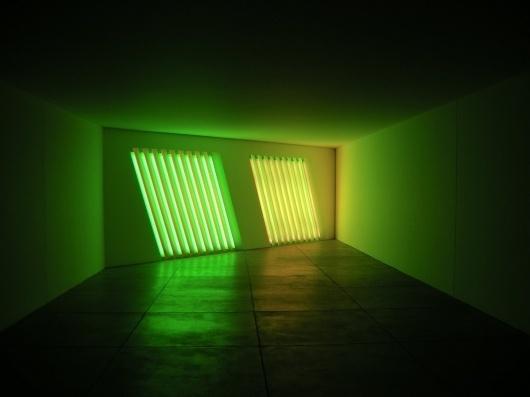 Untitled - Flavin, Dan - Conceptual art - Installation - Abstract - TerminArtors #sculpture #fluorescent #lights #colour #light #flavin