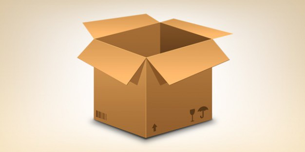 Realistic cardboard box icon Free Psd. See more inspiration related to Icon, Box, Icons, Psd, Cardboard, Files, Realistic, Horizontal and Cardboard box on Freepik.