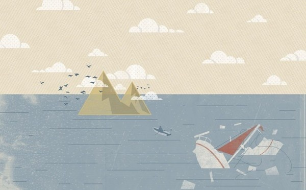 This Has Everything To Do With Surfing: We Dream of Island #wreck #water #surfing #noa #island #illustration #birds #ship #boat #stain #joy #magazine #emberson
