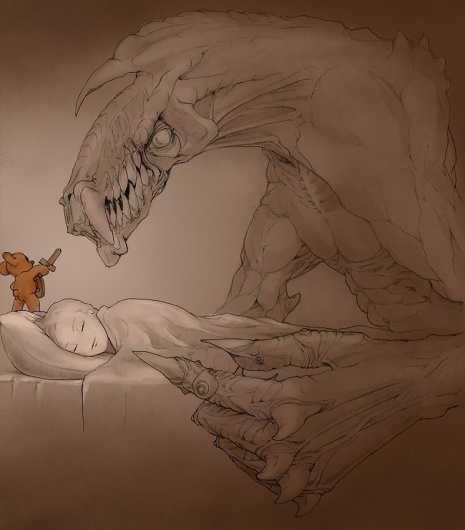 sweet halloween dreams by *begemott #monsters #bears #teedy