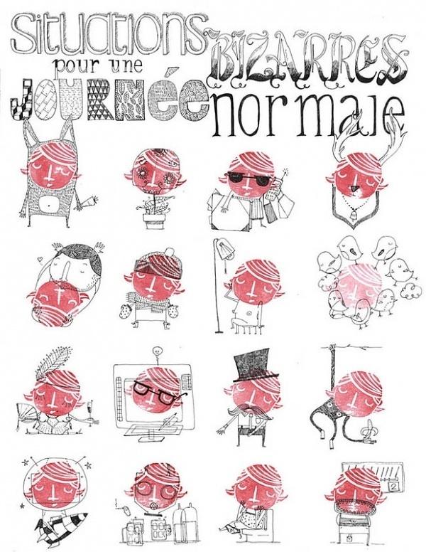 Amaia Arrazola Illustration #red #seal #illustration #poster #face
