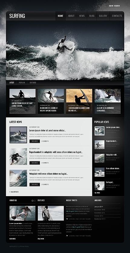 WebDesign / Surfing repinned by www.BlickeDeeler.de #surfing #design #interface #website #layout #web
