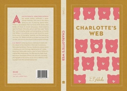 Dever Elizabeth #swan #white #mouse #jacket #design #color #book #pig #cover #illustration