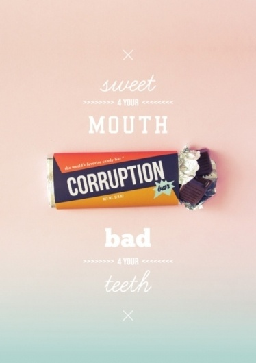 . #issue #corruption #design #graphic #positive #candy #poster #social