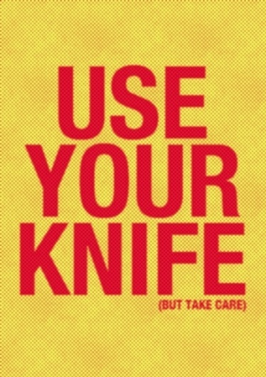 USE YOUR KNIFE on the Behance Network #digital #print #art