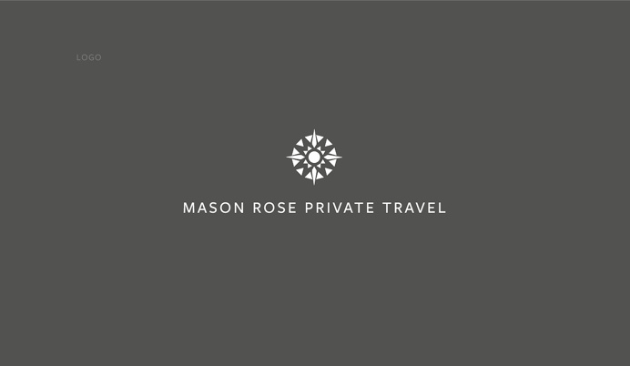 Mason Rose Private Travel branding and logo, by Redspa http://redspa.uk