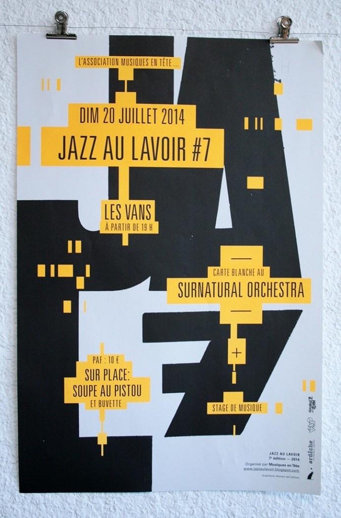 Jazz AU Lavoir #design #graphic #poster #typography