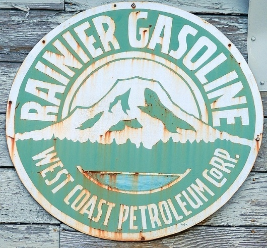 Rainier Gasoline | Flickr - Photo Sharing! #sign #logo #vintage #typography
