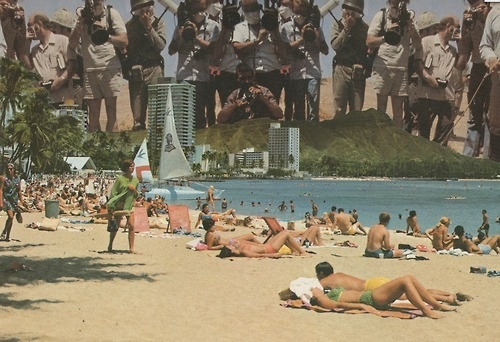 little collage ive been working on , enjoy! #print #design #graphic #hawaii #photography #vintage #art #beach #collage