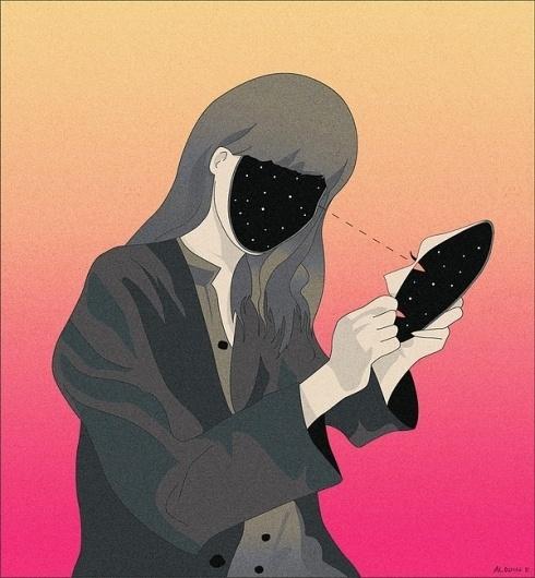ILLUSTRATION #universe #illustration #mask
