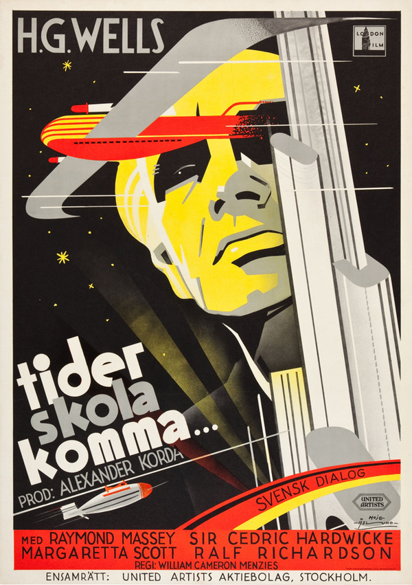 20 Swedish Posters for 1930s Hollywood 50 Watts #movie #lettering #airplane #illustration #vintage #poster #film #hand