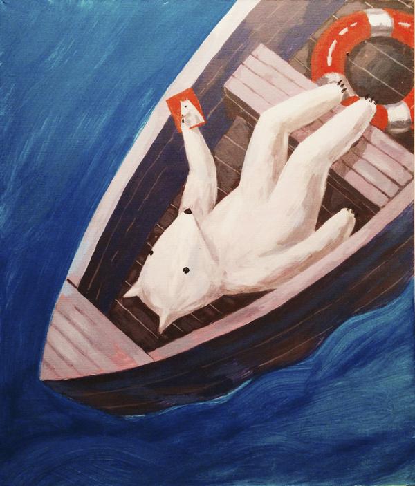 Paintings #canvas #art #dead #man #river