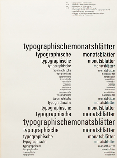 Cover from 1961 Typographische Monatsblätter issue 2 #grids #design #cover #emil #ruder #typography