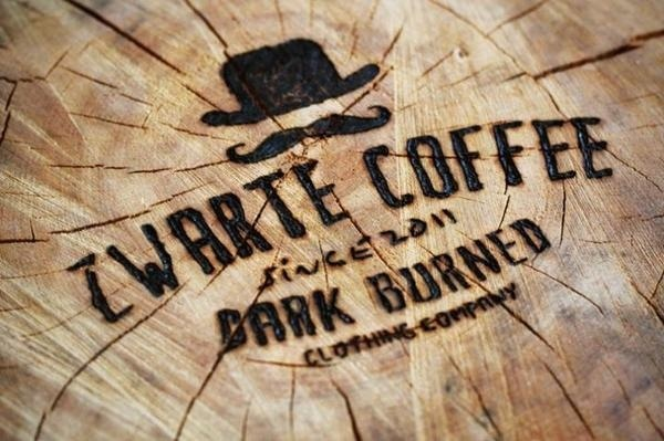 Zwarte Coffee men's clothing brand #lettering #clothing #brand #coffee #logo