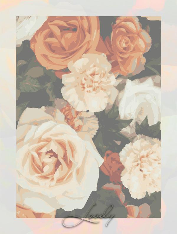 Lovely #illustration #light #roses
