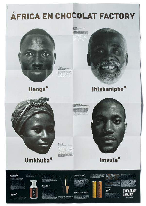 Africa | ruiz + company #page #print #design #graphic #africa #people #human #heads #diversity #layout #portraits #beauty