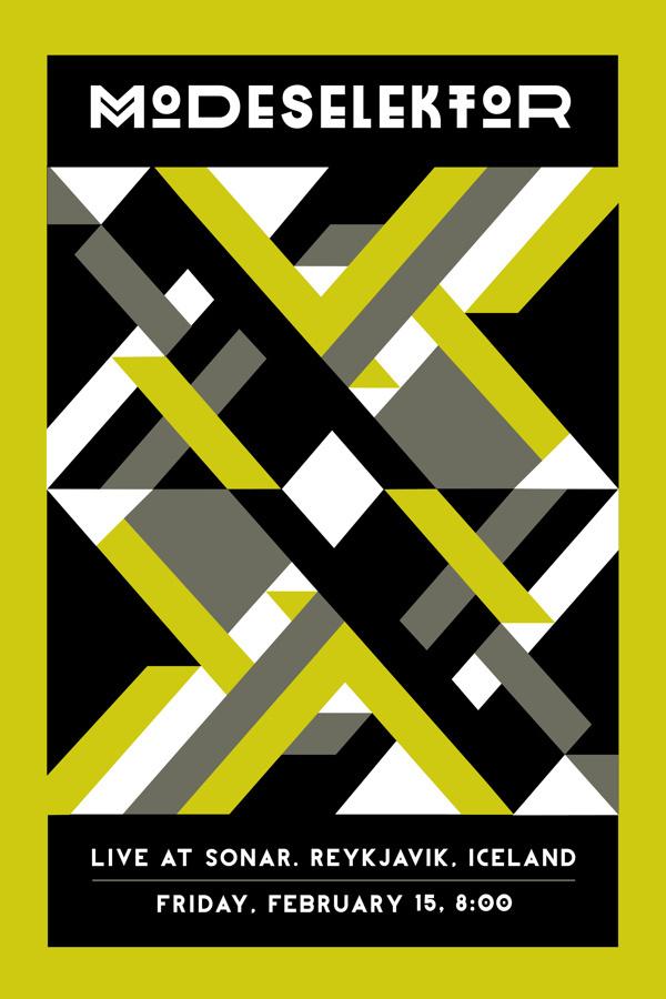 Modeselektor Concert Poster #bright #pattern #gig #tribal #geometric #poster #modeselektor #concert