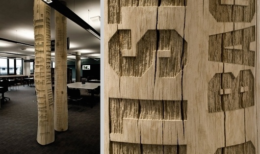 why not associates #wood #trees #typography