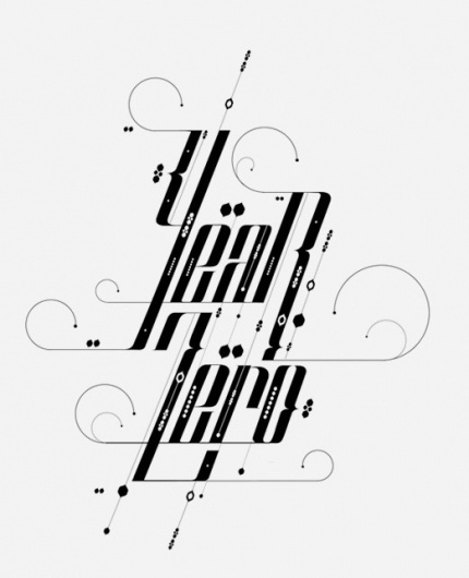 Type Treatments 2011 on the Behance Network #typography