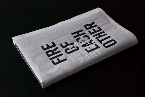 Design Work Life » Student Work: Januar Rianto: Fire Of Each Other #typography