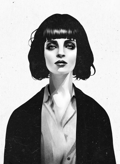 Mrs Mia Wallace Art Print by Ruben Ireland | Society6 #illustration #woman