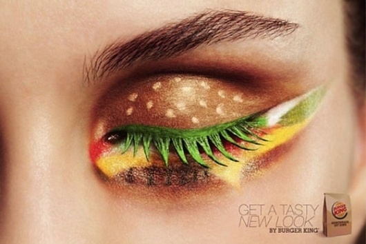 Burger King Dabbles in Makeup Artistry; Reggie Bush to Shill Skin Care -- The Cut #burger #photography #makeup #king