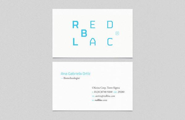 Redblac — Red de Biotecnología en Lácteos #card #design #graphic #business