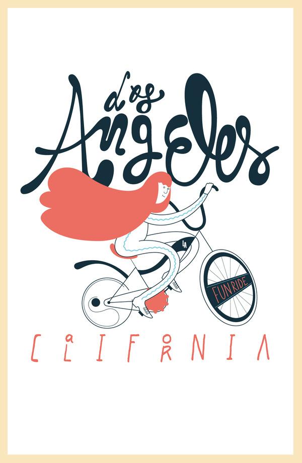 Los Angeles Tees on the Behance Network #los #bike #angeles