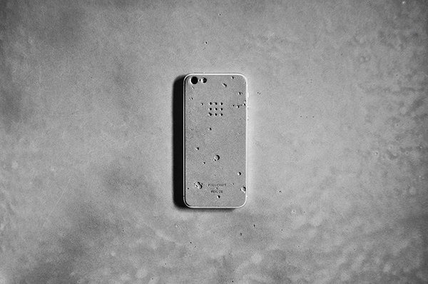 2 | This Rad Concrete Skin Turns Your iPhone Into Moon Rock | Co.Design: business + innovation + design #iphone #concrete #moonrock