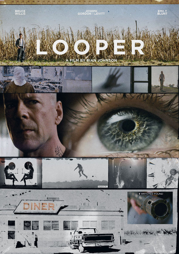 RIAN JOHNSON'S LOOPER on Behance #design #poster