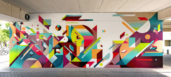 Nelio New Mural In Valencia, Spain StreetArtNews #colours #wall #spain #mural