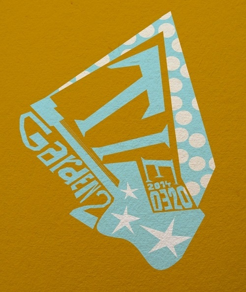 Kategxc3xb3rixc3xa1k #guitar #background #rock #yellow #dots #stars #blue #paper #concert #tie