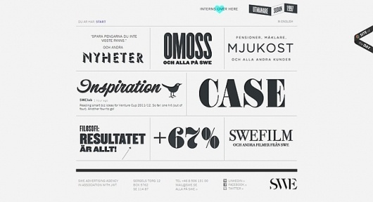 Beautiful Typography: 50 Inspiring Examples #design #web #typography