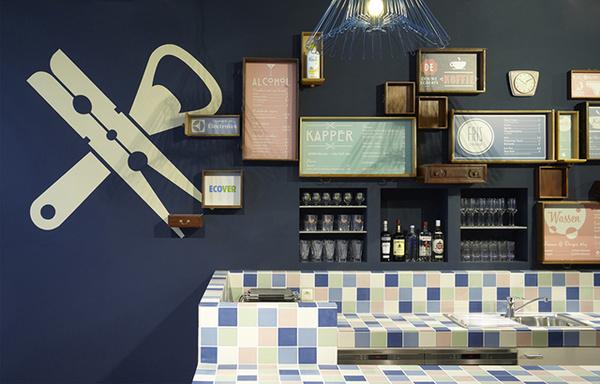 Wasbar Ghent Pinkeye Crossover Laundry coffee shop 10 #interior #beer #design #decor #laundry #bar #deco #decoration