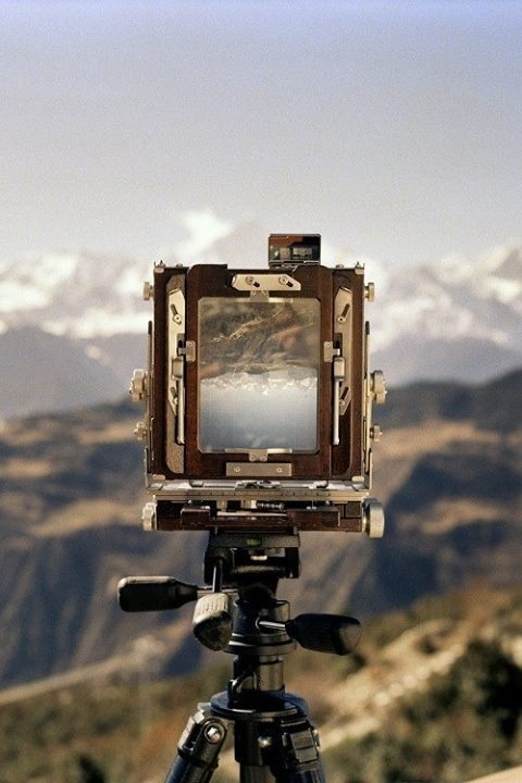 Flip it #camera #mountains #photograph