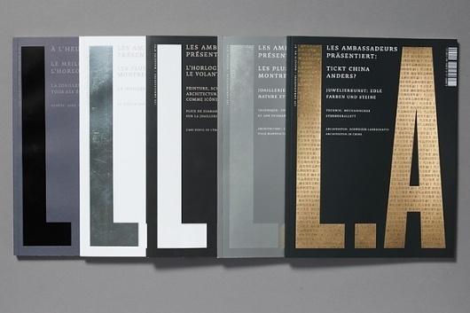 L.A magazine - Les Ambassadeurs on the Behance Network #print #editorial #magazine