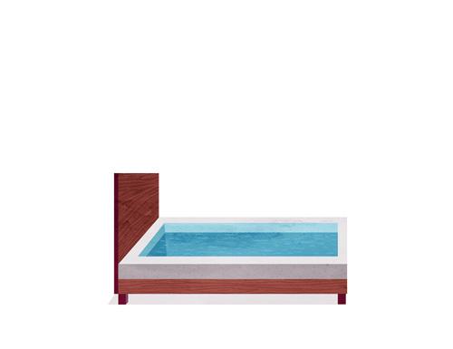 bed pool #water #pool #illustration #bed #swim #cartoon