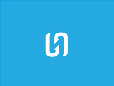 One idea for a new app called Hookline. A double hook that forms a hidden reversed H. #branding #brand #logo #mark #wordmark #app #identity