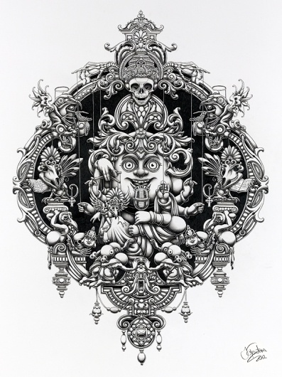 On The Air - 2012 on the Behance Network #illustration #graphite