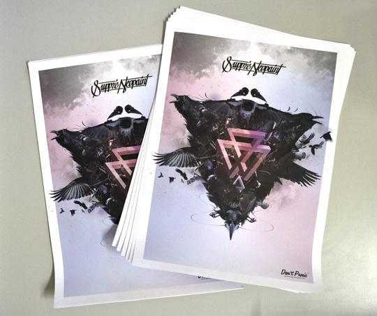 Suppré #design #poster #logo #suppr #raven
