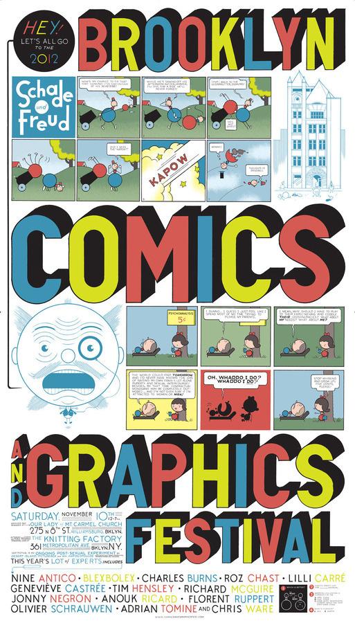 Brooklyn Comics and Graphics Festival 50 Watts #vector #festival #graphics #illustration #type #comics #typography