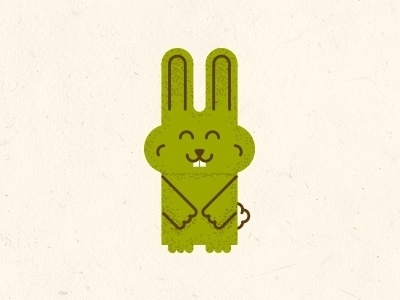 Dribbble - Wabbits by Matthew R. Miller #illustration #bunny #texture