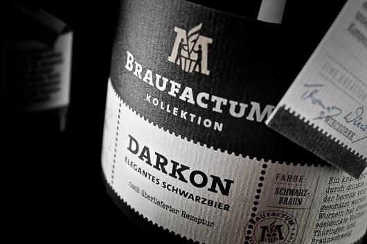 Braufactum – Feine Bierkultur #black #print #label #wine