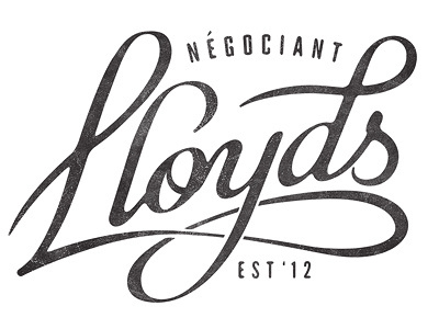 Lloyds Négociant #lettering #trademark #design #logo #type #typography