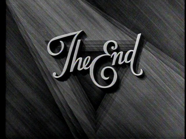 The End Title Card #movie #lettering #white #title #card #black #and #type