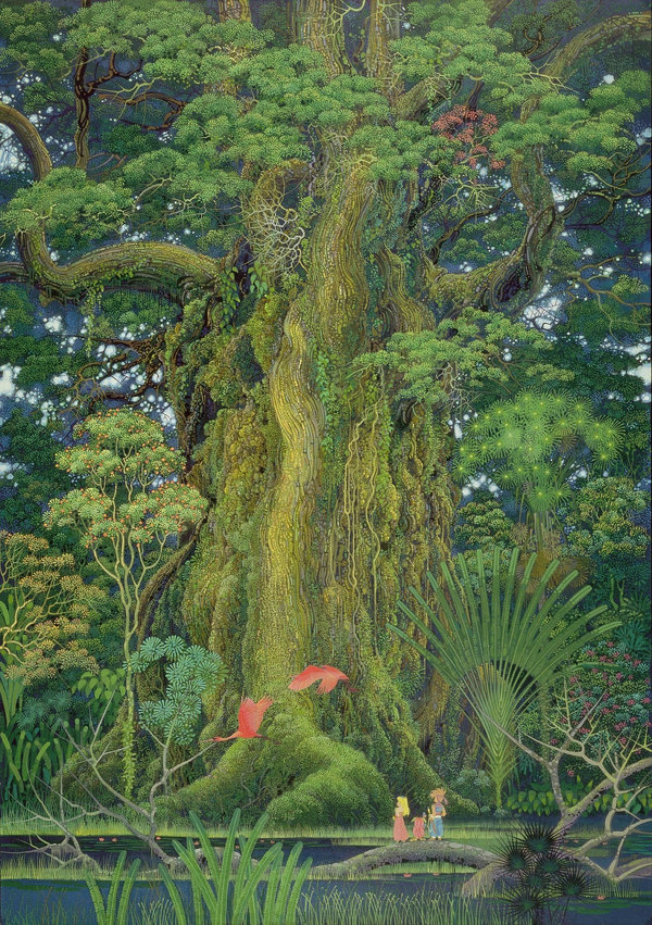 Secret of Mana SNES Cover art #tree #secret #of #snes #mana #illustration #square #poster #packmania #enix