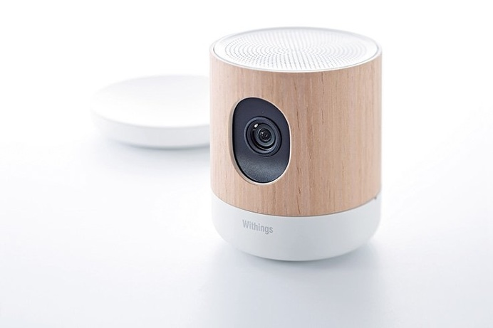 Withings Home is a beautifully #minimal security #camera and air quality sensor. #productdesign