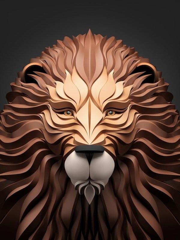 Predators – Amazing Digital Art by Maxim Shkret #predators #lion #digital #illustration #art