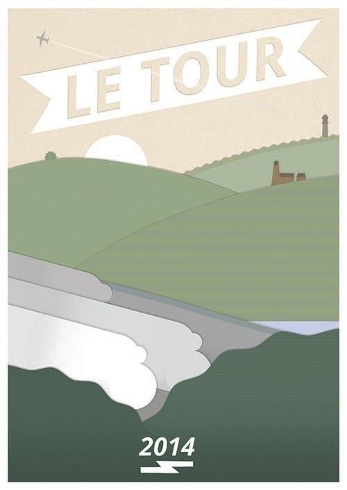 Tour de France #geometric #landscape #yorkshire #minimal #poster #le #cycling #tour