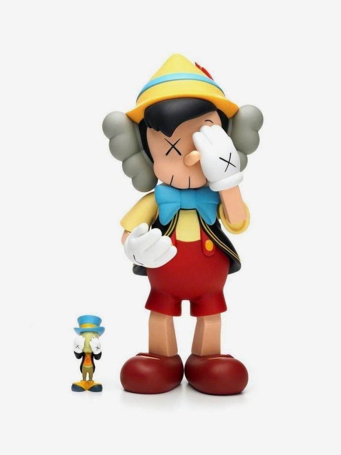 Kaws: Pinocchio & Jiminy Cricket
